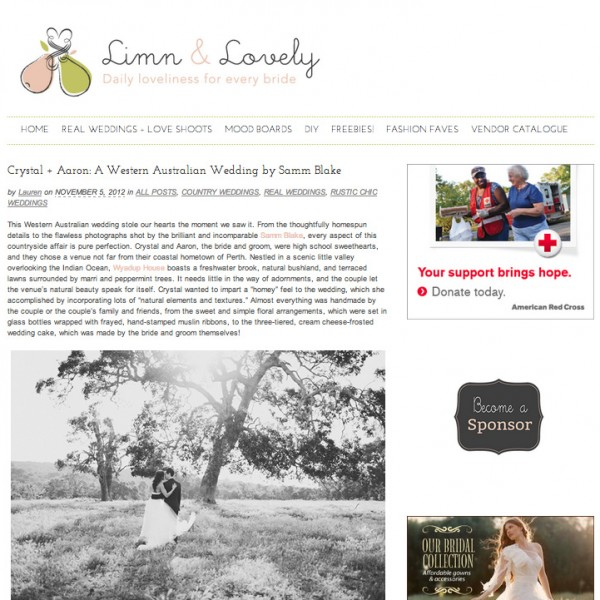 FEATURED ON LIMN & LOVELY {CRYSTAL & AARON - YALLINGUP, WESTERN AUSTRALIA)