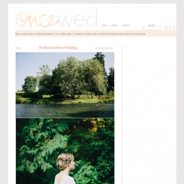 Featured on OnceWed - Rebecca & Willie - Portland, Oregon, USA