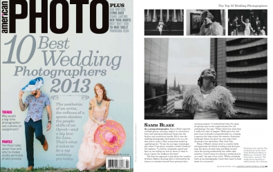 Samm Blake - American Photo Top Ten Wedding Photographers In The World 2013