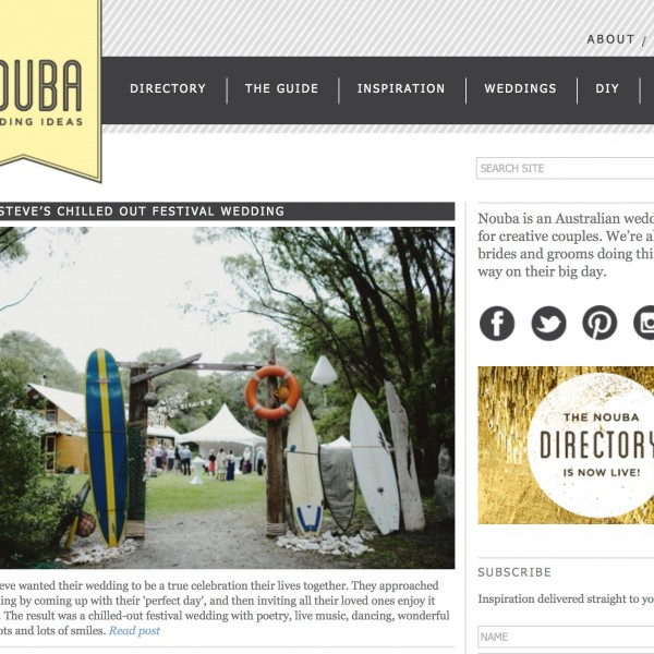 Featured on Nouba  (Nic & Steve)